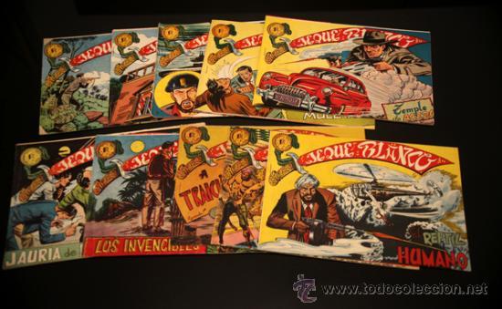 9 EJEMPLARES ORIGINALES EL JEQUE BLANCO (Tebeos y Comics - Rollán - Jeque Blanco)