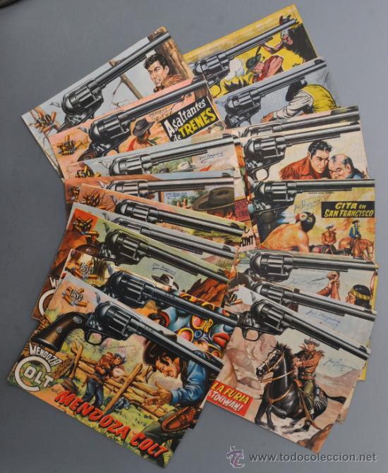 LOTE DE 20 MENDOZA COLT, EDITORIAL ROLLAN, CON Nº 1 Y 2 (Tebeos y Comics - Rollán - Mendoza Colt)