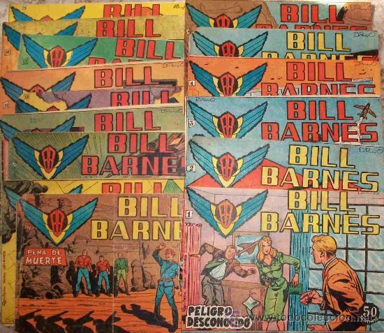 BILL BARNES (ROLLAN) 15 EJ DEL 1 AL 14 Y 16 (LOTE) (Tebeos y Comics - Rollán - Otros)