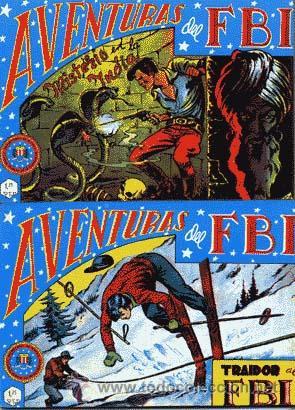 AVENTURAS DEL FBI 1ªEDICIÓN LUIS BERMEJO DEL Nº 1 AL 105(-Nº90) BIBLIOTA CAJA 58 (Tebeos y Comics - Rollán - FBI)