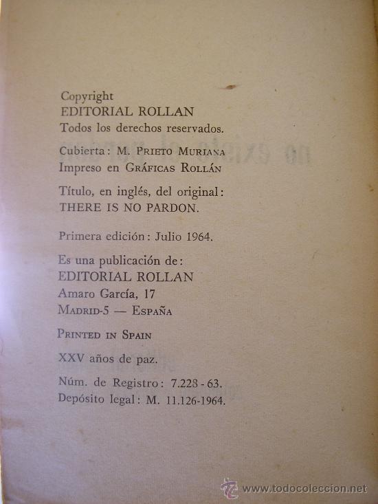 Tebeos: NO EXISTE EL PRDON, por Lou. C. Carrigan - Colección Western Club Nº 5 - ROLLAN - España - 1964 - Foto 2 - 38490779