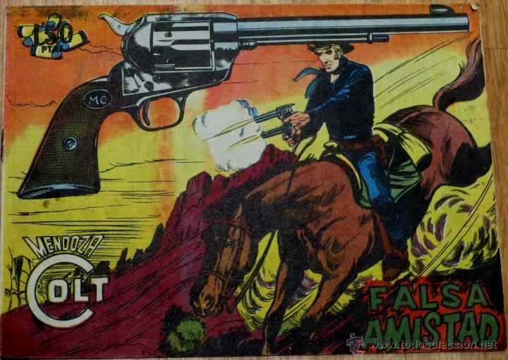 MENDOZA COLT Nº 83 FALSA AMISTAD EDITORIAL ROLLÁN AÑO 1959 (Tebeos y Comics - Rollán - Mendoza Colt)
