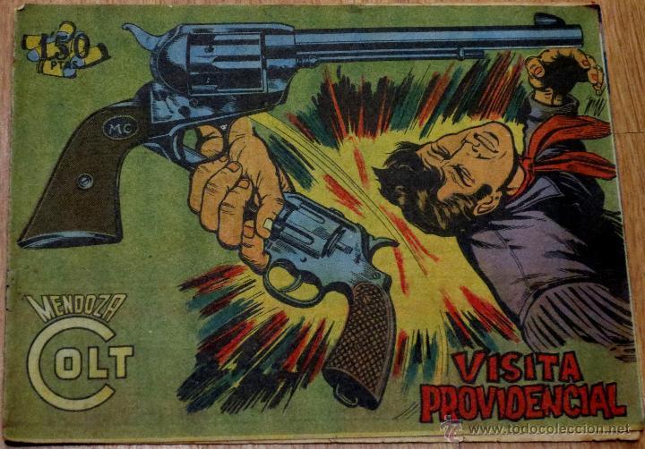 MENDOZA COLT Nº 84 VISITA PROVIDENCIAL EDITORIAL ROLLÁN AÑO 1959 (Tebeos y Comics - Rollán - Mendoza Colt)