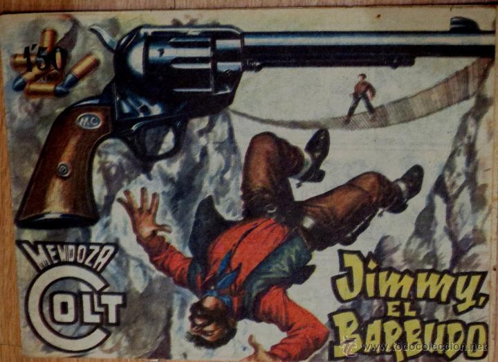 MENDOZA COLT Nº 74 JIMMY, EL BARBUDO EDITORIAL ROLLÁN AÑO 1958 (Tebeos y Comics - Rollán - Mendoza Colt)