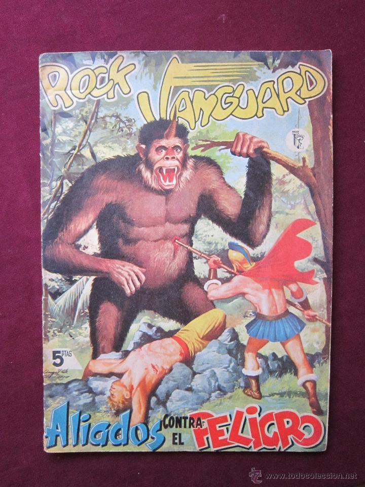 ROCK VANGUARD Nº 2. EDIT. ROLLÁN. 1958. ALIADOS CONTRA EL PELIGRO. MUY ESCASO. 5 PTS TEBENI (Tebeos y Comics - Rollán - Rock Vanguard)