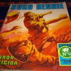Tebeos: HUGO RENNIE SERIE AZUL Nº 9. ROLLÁN 1973. 25 PTS. FUROR SUICIDA. BUEN ESTADO.. Lote 46555503