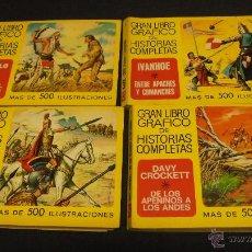 Tebeos: GRAN LIBRO GRAFICO DE HISTORIAS COMPLETAS. COLECCION COMPLETA. 4 TOMOS. EDITORIAL BRUGUERA. 1975. Lote 49930977