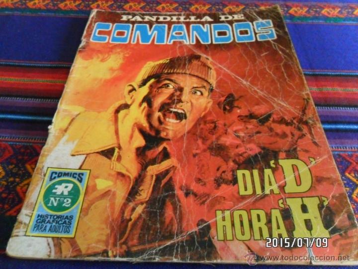 PANDILLA DE COMANDOS Nº 2 SERIE B Nº 5. DÍA D HORA H. ED. ROLLÁN 1973. 25 PTS. REGALO Nº 3. (Tebeos y Comics - Rollán - Series Rollán (Azul, Roja, etc))