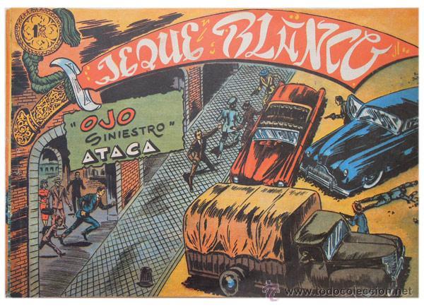JEQUE BLANCO – LOTE 8 NÚMEROS (17 AL 24) – ED. B.O. REEDICIÓN 1980 (Tebeos y Comics - Rollán - Jeque Blanco)