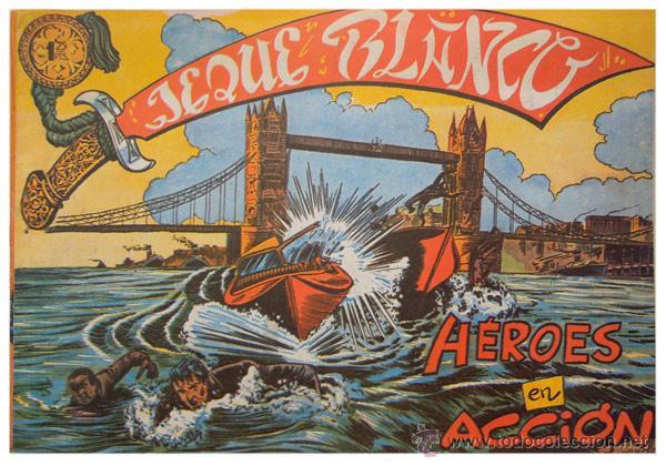 Tebeos: Jeque Blanco – Lote 8 números (17 al 24) – Ed. B.O. reedición 1980 - Foto 3 - 50745813