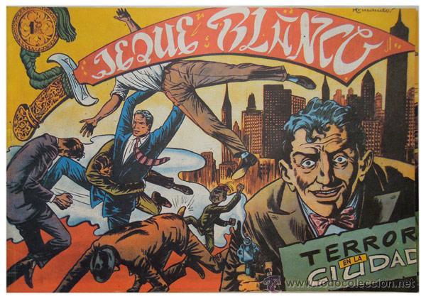 Tebeos: Jeque Blanco – Lote 8 números (17 al 24) – Ed. B.O. reedición 1980 - Foto 7 - 50745813