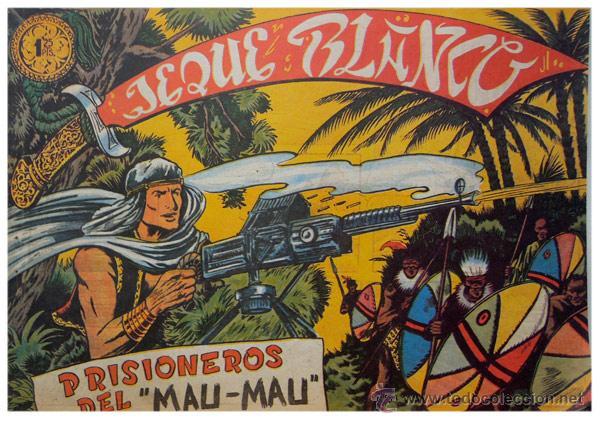 Tebeos: Jeque Blanco – Lote 8 números (17 al 24) – Ed. B.O. reedición 1980 - Foto 9 - 50745813
