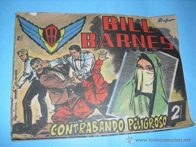 TEBEO, BILL BARNES Nº 21, EDITORIAL ROLLAN 1961, (Tebeos y Comics - Rollán - Otros)