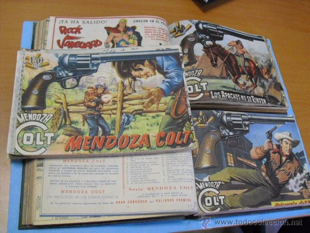93 TEBEOS DE MENDOZA COCT, DE EDITORIAL ROLLAN, 1959, LEER ANUNCIO (Tebeos y Comics - Rollán - Mendoza Colt)