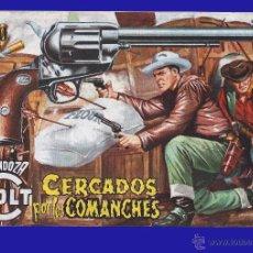 Tebeos: CÓMIC - MENDOZA COLT - CERCADOS POR LOS COMANCHES - COMIC ROLLÁN ORIGINAL DEL AÑO 1955 - Nº 20. Lote 52472923