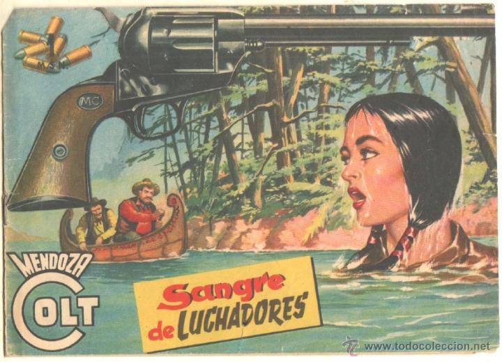 MENDOZA COLT ORIGINAL Nº 28 EDI. ROLLAN 1956 - (Tebeos y Comics - Rollán - Mendoza Colt)