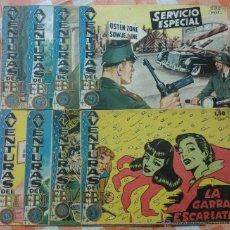 Tebeos: AVENTURAS DEL FBI Nº 166, 168, 170, 171, 178, 182, 5 Y 16 (ROLLAN 1957/58) 8 TEBEOS.. Lote 50822883