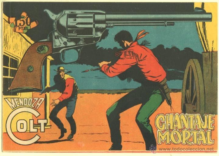 MENDOZA COLT ORIGINAL Nº 107 EDI. ROLLAN 1960 - MUY DIFICIL - MUY NUEVO - SIN CIRCULAR (Tebeos y Comics - Rollán - Mendoza Colt)