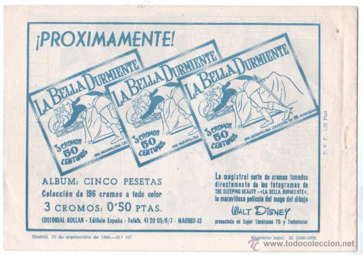 Tebeos: MENDOZA COLT ORIGINAL Nº 107 EDI. ROLLAN 1960 - MUY DIFICIL - MUY NUEVO - SIN CIRCULAR - Foto 2 - 53473659