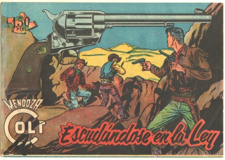 MENDOZA COLT ORIGINAL Nº 112 EDI. ROLLAN 1960 - MUY NUEVO - MUY DIFICIL - SIN CIRCULAR (Tebeos y Comics - Rollán - Mendoza Colt)