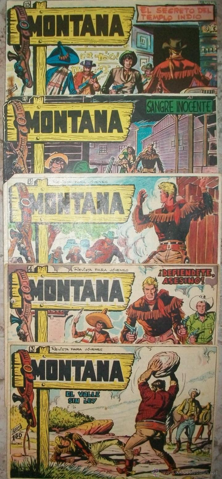 MONTANA (ROLLAN) (LOTE DE 5 NUMEROS) (Tebeos y Comics - Rollán - Otros)