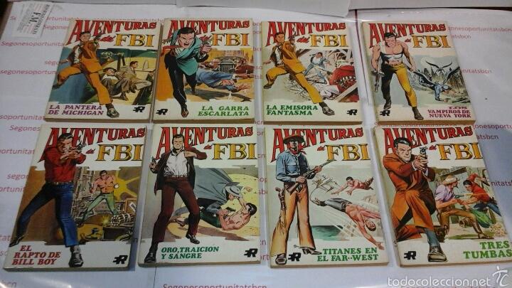 LOTE COMPLETO - AVENTURAS DEL FBI - N°1 AL 8 - ED. ROLLAN (Tebeos y Comics - Rollán - FBI)