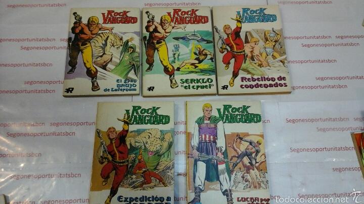 LOTE - ROCK VANGUARD - 5 TOMOS - ED. ROLLAN 1974 (Tebeos y Comics - Rollán - Rock Vanguard)