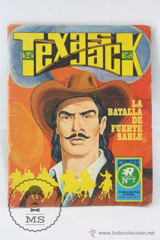 CÓMIC TEXAS JACK - Nº 7. LA BATALLA DE FUERTE SABLE - SERIE AZUL. Nº 17 - ED. ROLLÁN, 1973 (Tebeos y Comics - Rollán - Otros)