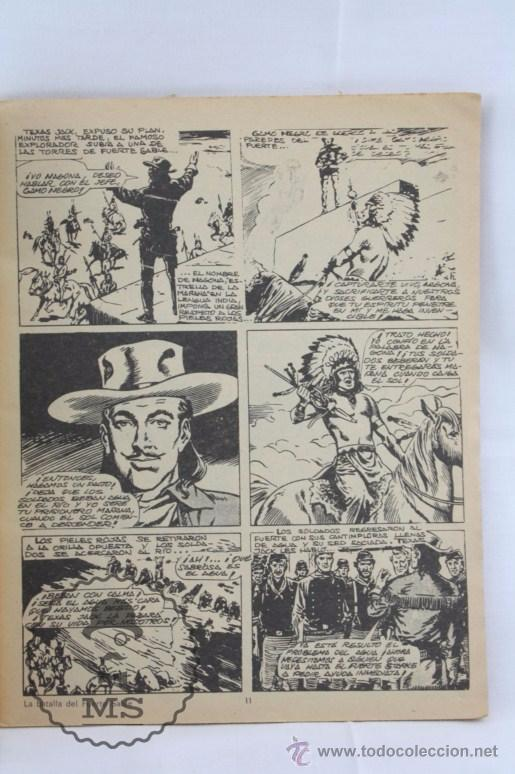 Tebeos: Cómic Texas Jack - Nº 7. La Batalla de Fuerte Sable - Serie Azul. Nº 17 - Ed. Rollán, 1973 - Foto 2 - 54607948