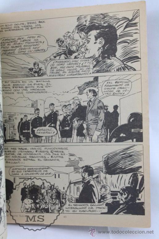 Tebeos: Cómic Texas Jack - Nº 7. La Batalla de Fuerte Sable - Serie Azul. Nº 17 - Ed. Rollán, 1973 - Foto 3 - 54607948