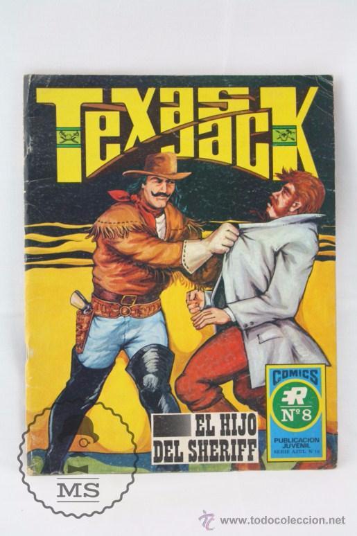 CÓMIC TEXAS JACK - Nº 8. EL HIJO DEL SHERIFF - SERIE AZUL. Nº 18 - ED. ROLLÁN, 1973 (Tebeos y Comics - Rollán - Otros)