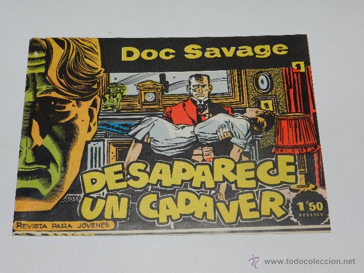 (M1) DOC SALVAGE NUM 1 - DESAPARECE UN CADAVER , EDT ROLLAN, MADRID 1961 - SEÑALES DE USO (Tebeos y Comics - Rollán - Otros)