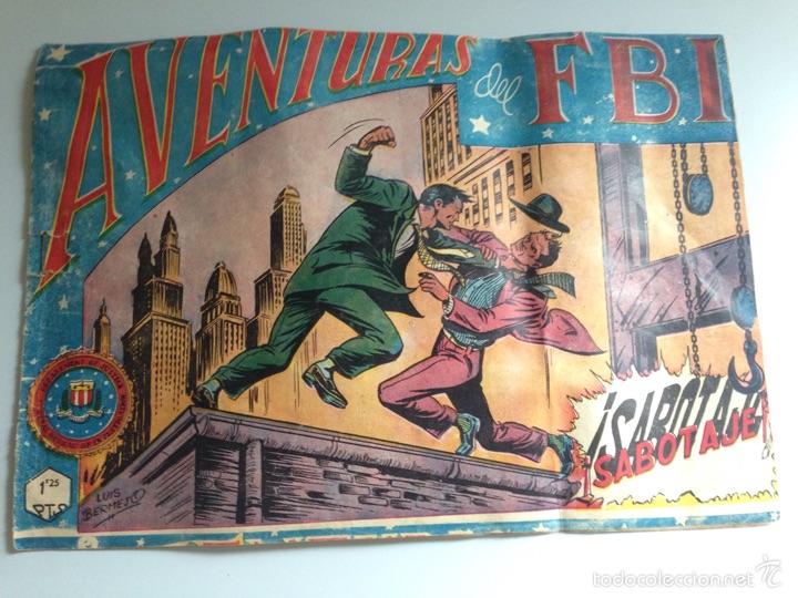 TEBEO AVENTURAS DEL FBI SABOTAJE.LUIS BERMEJO.EDITORIAL ROLLAN (Tebeos y Comics - Rollán - FBI)