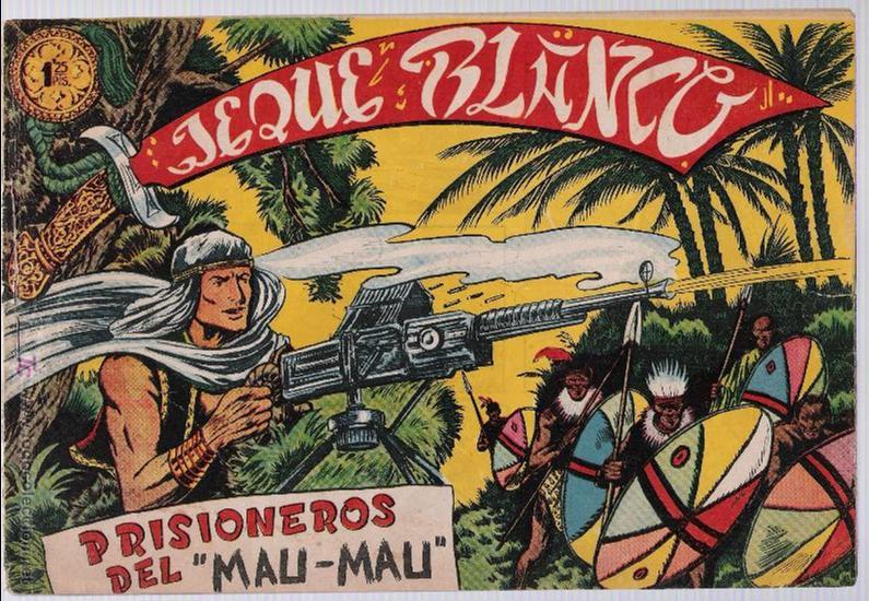 JEQUE BLANCO Nº 24. 1951. (Tebeos y Comics - Rollán - Jeque Blanco)