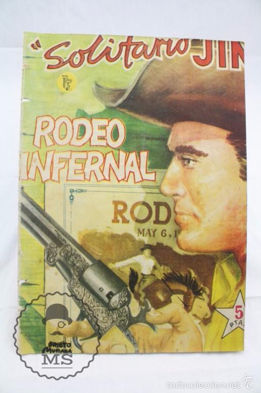 CÓMIC SOLITARIO JIM - Nº 1. RODEO INFERNAL - ED. ROLLÁN, AÑOS 50 - MEDIDAS 25 X 17,5 CM (Tebeos y Comics - Rollán - Otros)