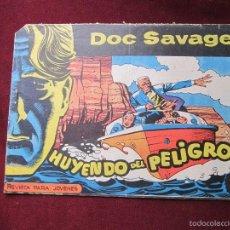 Tebeos: DOC SAVAGE Nº 11. HUYENDO DEL PELIGRO. HERNANDEZ PALACIOS. EDITORIAL ROLLÁN 1961 TEBENI. Lote 58082448