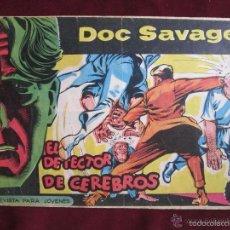 Tebeos: DOC SAVAGE Nº 12. EL DETECTOR DE CEREBROS. HERNANDEZ PALACIOS. EDITORIAL ROLLÁN 1961 TEBENI. Lote 58082464
