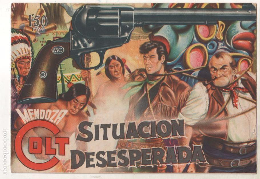 Tebeos: MENDOZA COLT ORIGINAL COMPLETA 1 AL 120 EDI. ROLLAN 1955 MAGNÍFICO ESTADO, DE LUJO - Foto 4 - 66049502