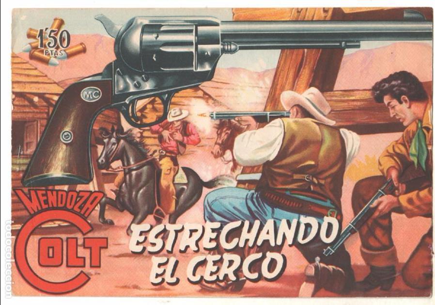 Tebeos: MENDOZA COLT ORIGINAL COMPLETA 1 AL 120 EDI. ROLLAN 1955 MAGNÍFICO ESTADO, DE LUJO - Foto 5 - 66049502