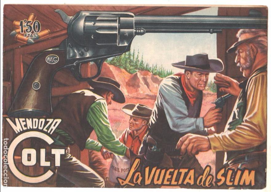 Tebeos: MENDOZA COLT ORIGINAL COMPLETA 1 AL 120 EDI. ROLLAN 1955 MAGNÍFICO ESTADO, DE LUJO - Foto 13 - 66049502