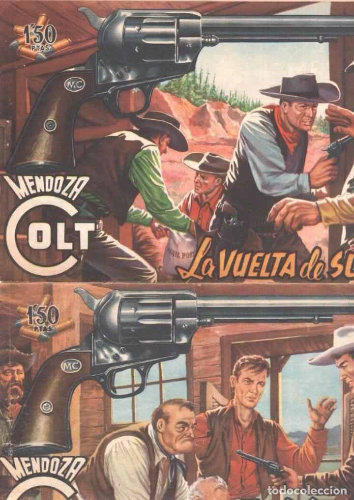 Tebeos: MENDOZA COLT ORIGINAL COMPLETA 1 AL 120 EDI. ROLLAN 1955 MAGNÍFICO ESTADO, DE LUJO - Foto 17 - 66049502