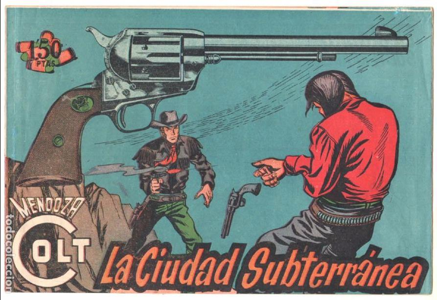 Tebeos: MENDOZA COLT ORIGINAL COMPLETA 1 AL 120 EDI. ROLLAN 1955 MAGNÍFICO ESTADO, DE LUJO - Foto 23 - 66049502