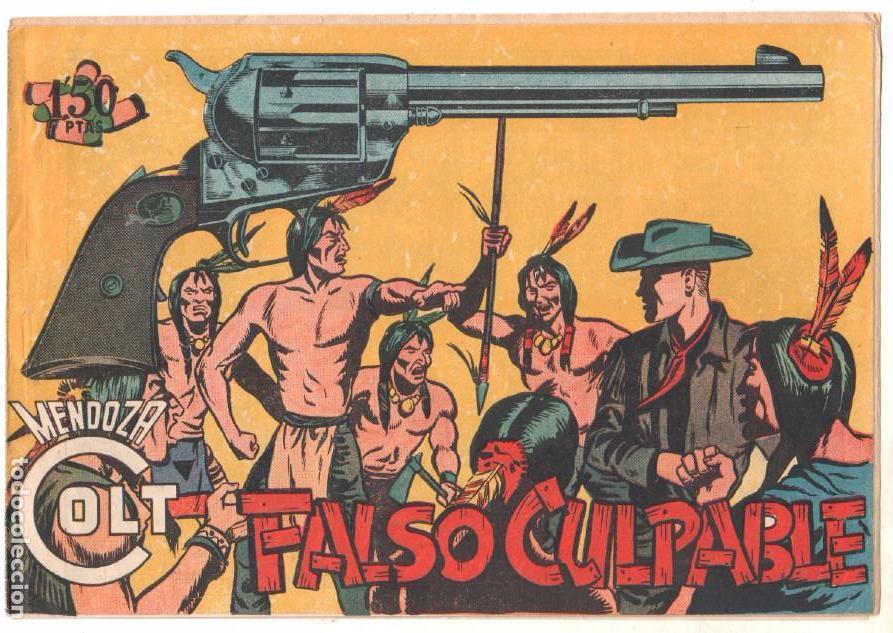 Tebeos: MENDOZA COLT ORIGINAL COMPLETA 1 AL 120 EDI. ROLLAN 1955 MAGNÍFICO ESTADO, DE LUJO - Foto 24 - 66049502