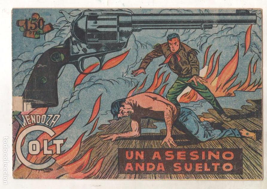 Tebeos: MENDOZA COLT ORIGINAL COMPLETA 1 AL 120 EDI. ROLLAN 1955 MAGNÍFICO ESTADO, DE LUJO - Foto 27 - 66049502