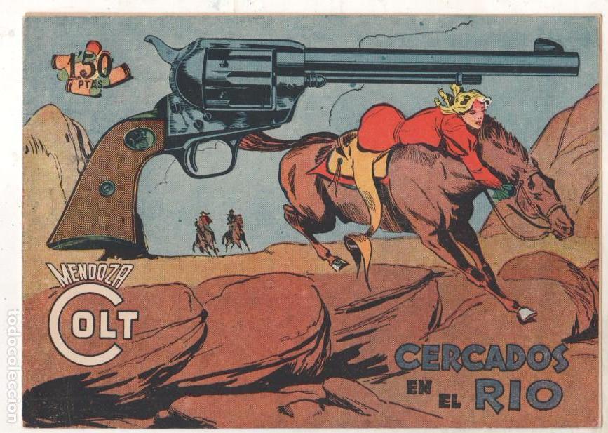 Tebeos: MENDOZA COLT ORIGINAL COMPLETA 1 AL 120 EDI. ROLLAN 1955 MAGNÍFICO ESTADO, DE LUJO - Foto 32 - 66049502