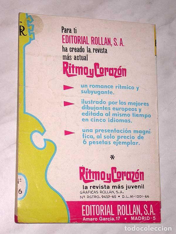 Tebeos: RECOMPENSA PARA JANICE. RITMO Y CORAZÓN Nº 16. EDITORIAL ROLLÁN, 1966. PORTADA DE MIRALLES. ++++ - Foto 4 - 67653885