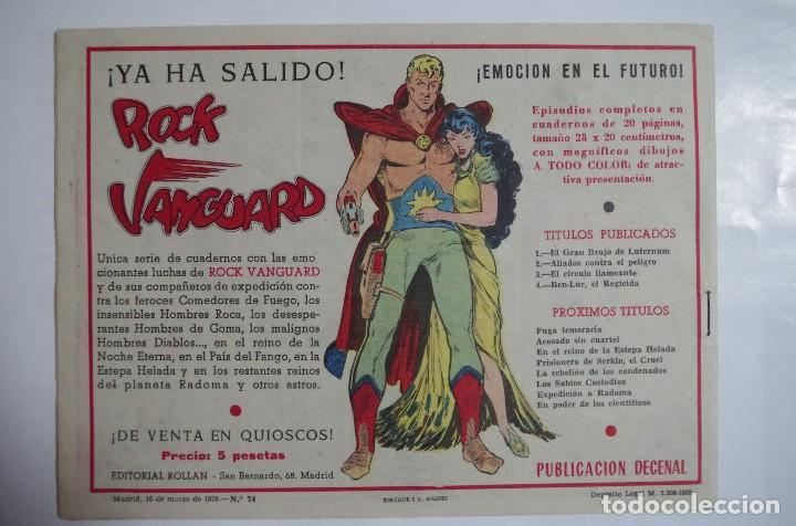 Tebeos: MENDOZA COLT Nº 74 - E. ROLLAN - ORIGINAL - Foto 2 - 69938765