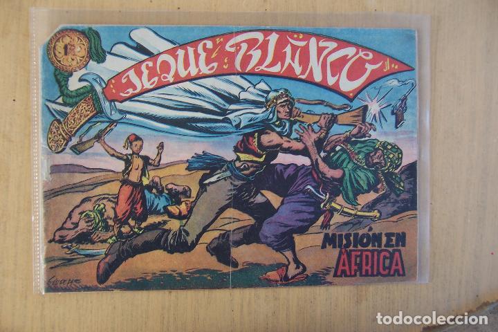 ROLLAN, JEQUE BLANCO, LOTE DE 34 Nº, CON EL Nº 1 Y EL 137 ULTIMO Y TRES EXTRAORDINARIO Y SUELTOS. (Tebeos y Comics - Rollán - Jeque Blanco)