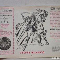 Tebeos: JEQUE BLANCO Nº 1. Lote 75660791