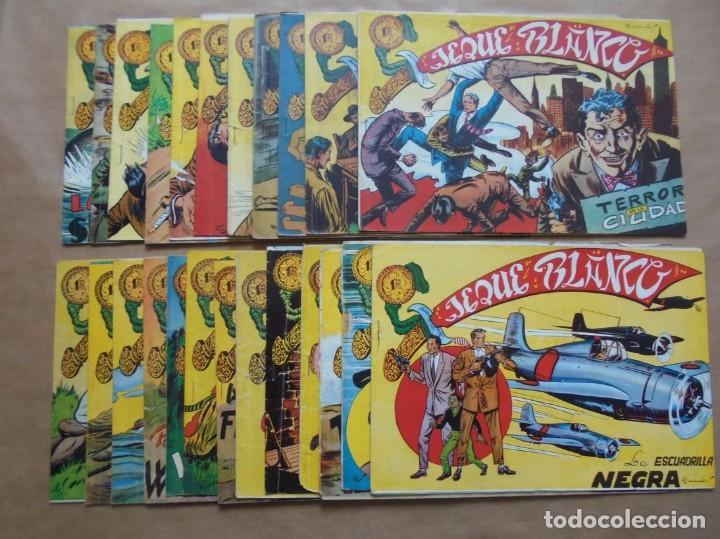 JEQUE BLANCO - LOTE DE 24 EJEMPLARES - ORIGINALES - ROLLÁN - JLV (Tebeos y Comics - Rollán - Jeque Blanco)